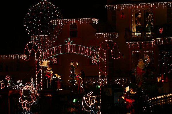 Christmas lights in the Bay Area