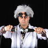 "Angelo DiNardi, SmugSorcerer, as ""Dr. Emmett (Doc) Brown"" in Back To The Future"