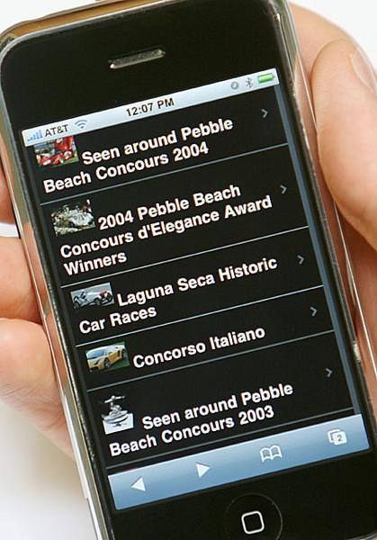 SmugMug on an iPhone